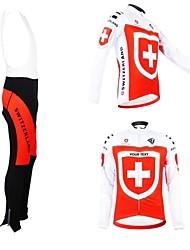 kooplus unisexe automne printemps vélo vêtements personnalisés suisse manches longues costume pantalon maillot de dossard polyester vélo
