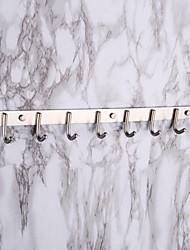 ganchos de toalha, jogo de 8 porânea Contem escovado parede de aço inoxidável montado