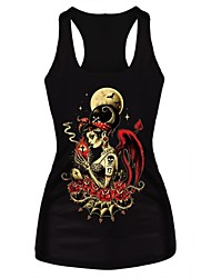 Skeleton Tombstone Rock Tank Top Dress Night Club Sexy Uniform