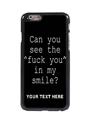 Personalized Phone Case - Fuck Letter Design Metal Case for iPhone 6 Plus