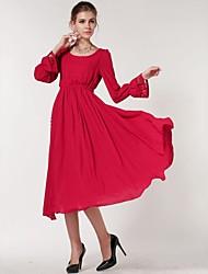 manicotto blcuson elegante abito lungo sottile del incern®women