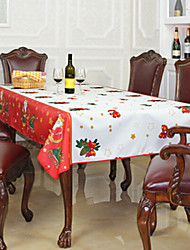 Santa Claus Pattern Purified Polyester Fiber Christmas Tablecloth,145*200cm(58*80inch)