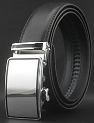 mode surface lisse boucle automatique entreprise ceinture en cuir des hommes