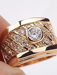 solitário ouro amarelo 18K preenchido 1.2ct cortadas mens cz ou mulheres anel sz8