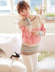 Women's Heart Pattern Hedging Loose Sweater