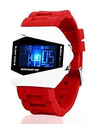 Herren Sportuhr digital LED Silikon Band Schwarz Weiß Blau Rot Braun Weiß Schwarz Braun Rot Blau