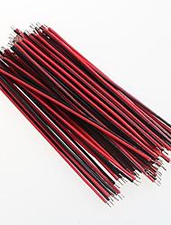 línea 7 0.9mm Aberdeen 8cm cable rojo y negro y el cable largo (100 piezas)