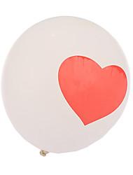 очень большие белые размер толстые сердце круглые шары - набор из 24