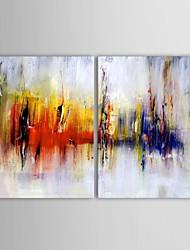 Dipinta a mano Astratto Due Pannelli Tela Hang-Dipinto ad olio For Decorazioni per la casa