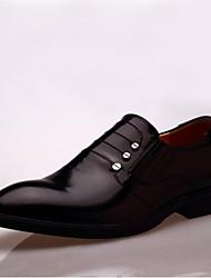Zapatos de Hombre Boda/Oficina y Trabajo/Casual/Fiesta y Noche Cuero Patentado/Pelo de Ternero Oxfords Negro