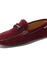 Men's Shoes Casual Calf Hair Loafers Gray/Navy/Burgundy