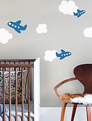 stickers muraux stickers muraux, nuage de bande dessinée et de la paroi plane de pvc autocollants.