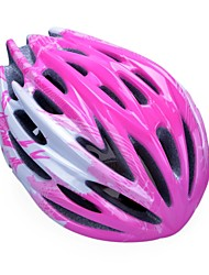 moda unisex y de alta transpirabilidad pc + epp casco de bicicleta (32vents) - aumentaron + plata rojo