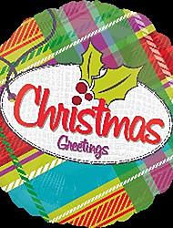Christmas Stripe Metallic Balloons