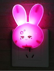 Creative Induction Lovely Rabbit LED  Night Light(Random Color)