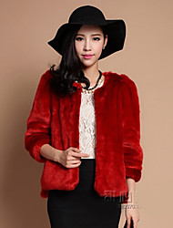 Women's Coats & Jackets , Faux Fur Casual Long Sleeve YIFULU