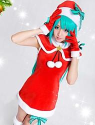Vocaloid Hatsune Miku Classic Red Christmas Costume