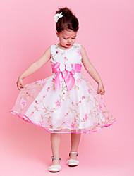 Vestido de niña de las flores - Corte A/Corte Princesa Hasta la Rodilla - Organza Sin Mangas