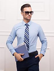 Светло голубая рубашка с длинным рукавом Slim Fit