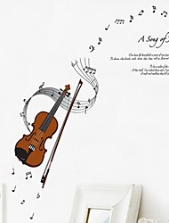 Wall Stickers Wall Decals Violin Decorative Sticker