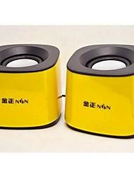 Mini haut-parleur jaune mignon audio filaire 3.5mm subwoofer
