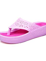 резиновые женщин низкий каблук флип-флоп тапочки обувь (больше цветов)