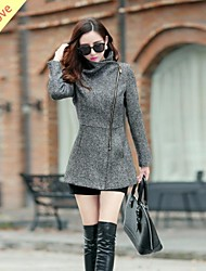 Kimolove®Women'S Classic Fashion Lapel Fashion Slim Zipper Wool Coat
