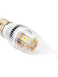Ampoules Bougie Blanc Chaud CA E26/E27 5 W 24 SMD 5730 350 LM 2500-3500 K AC 100-240 V
