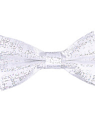 White Solid Bow Tie