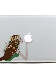 SKINAT Removable cartoon colorful lovely beautiful girl tablet and laptop computer sticker for macbook Air 11,170*270mm