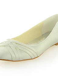 Women's Wedding Shoes Round Toe Flats Wedding Black/Blue/Yellow/Pink/Purple/Red/Ivory/White/Silver/Champagne