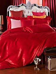 edredón betterhome cubierta de funda nórdica comodidad establecer el lujo moderno de 4 piezas de seda del faux jacquard completa