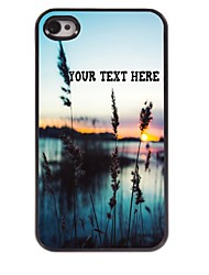 Personalized Phone Case - Grass and The Sea Design Metal Case for iPhone 4/4S