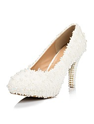Women's Wedding Shoes Heels/Platform/Round Toe Heels Wedding White