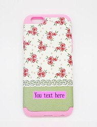 Personlized Phone Case Light Green Flower Sillicone for iPhone6