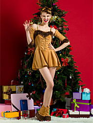 Performance Women's Christmas Costume(Hairpin,Gloves,Podotheca Included)