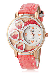 Women's Love Rolling Beads PU Band Quartz Fashion Watch (Assorted Colors)