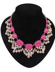 fleurs fantaisie des femmes perles ovales dossard pôle collier déclaration