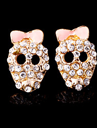 Stud Earrings Alloy Earring Rhinestone