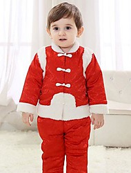 Red Tang Suit Kids Christmas Costume