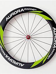 AURORA RACING U Shape 20.5mm Wide T60-20.5 Green Carbon Bicycle Wheel Tubular 60mm Bike Wheelset
