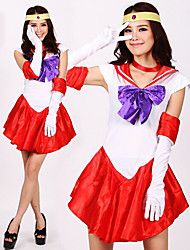 Cosplay Costumes / Party Costume Movie/TV Theme Costumes Festival/Holiday Halloween Costumes Red Patchwork Dress / Headpiece / Gloves