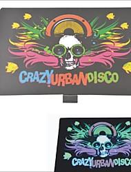 carking ™ Autowindschutzscheibe Musiksteuerung Equalizer Blitzlicht Aufkleber-crazy städtische Disco (2 * aaa)