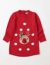 Big Nose Reindeer Sweater Kids Christmas Costume