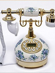 Europe Style Ceramic Material Home Decor Telephone with ID Display