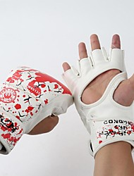 First Blood Leather Healf Finger Wearable Fighting Gloves (Average Size)
