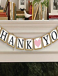 "Wedding Décor ""THANK YOU""  Banner Bunting--- Set of 9 Pieces"