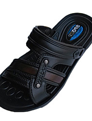 Boy's Slippers & Flip-Flops Spring / Summer Slide / Comfort Rubber Flat Heel Slip-on Black