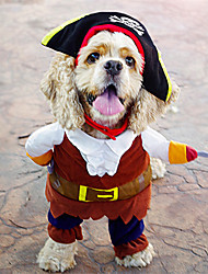 Cool Pirates with Hat Flannelette Clothes for Pet Dog(Assorted Sizes)
