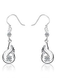 q-loverly 925 Sterling Silber Ohrringe koreanische Mode Sterling Silber earing
